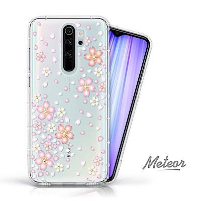 Meteor MI 紅米 Note 8 Pro 奧地利水鑽殼 - 櫻花