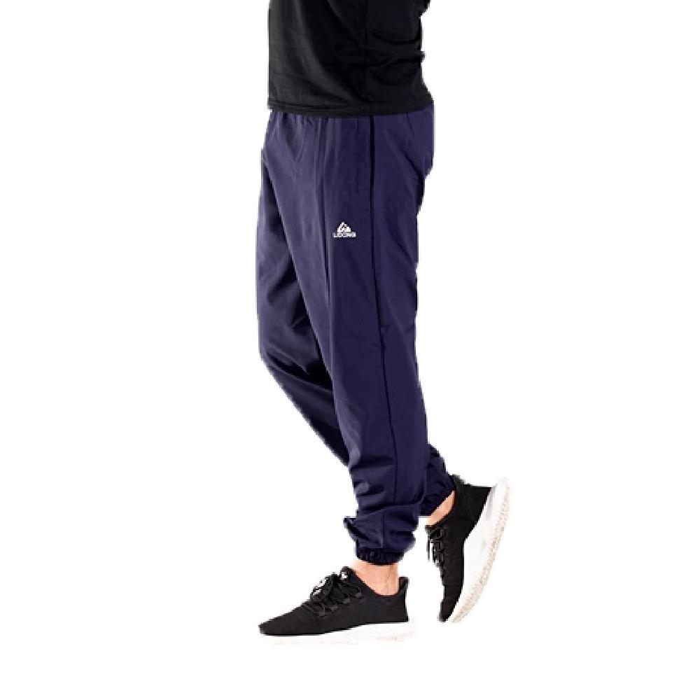 CS衣舖【涼感褲】機能涼感 吸濕排汗 口袋拉鍊 伸縮腰圍 縮口褲 運動褲 長褲 三色 (藍色)