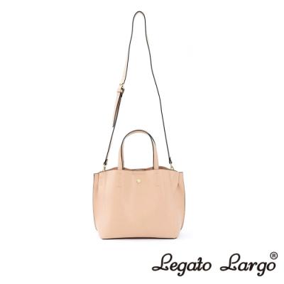 Legato Largo 驚異的輕量化 小法式輕便簡約 手提斜背兩用包 櫻花粉