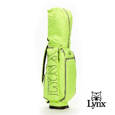 【Lynx Golf】Lynx刺繡輕量9吋口徑四口球桿袋-綠色