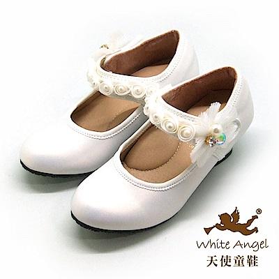 天使童鞋 舞會精靈公主高跟鞋 J894-06 白