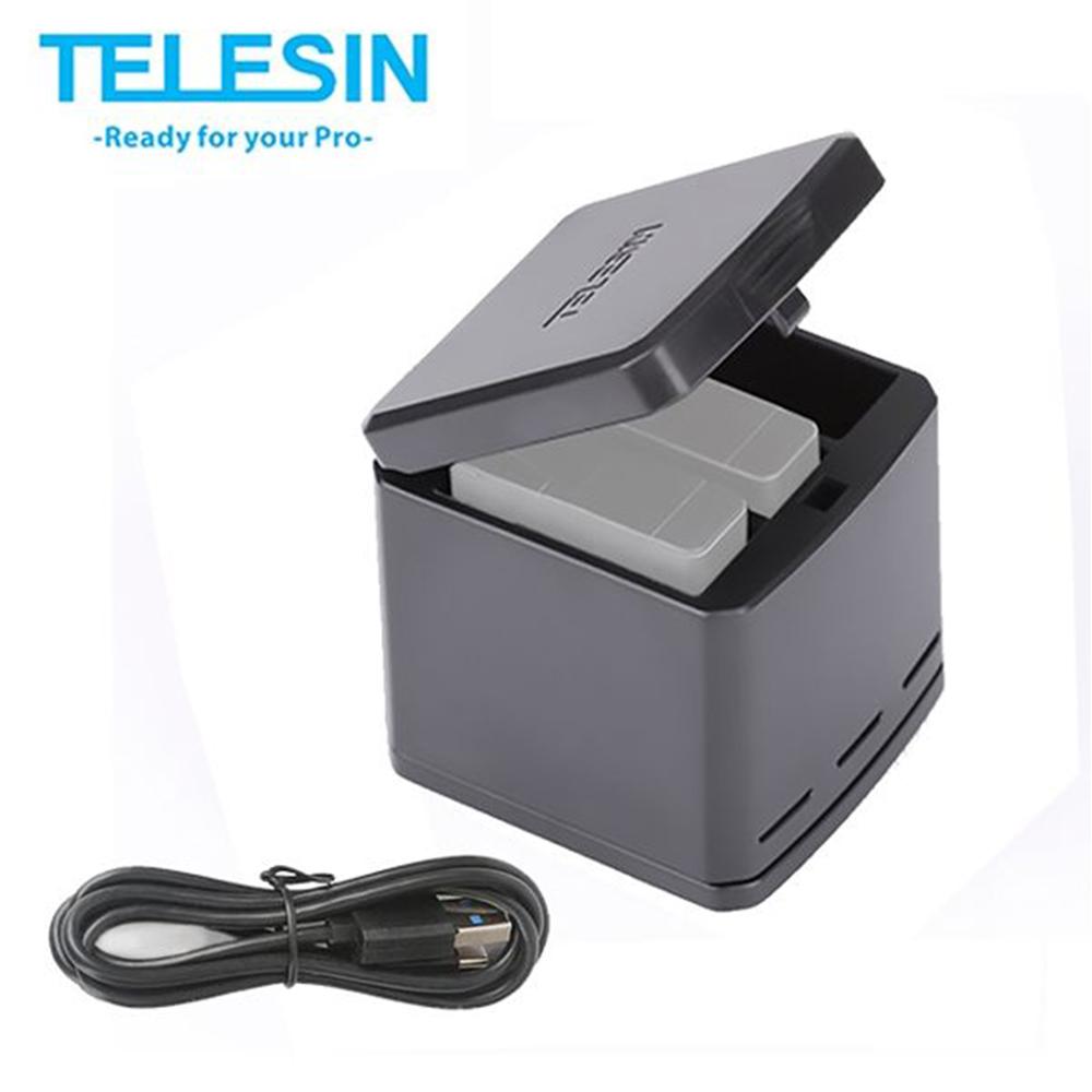 TELESIN GoPro Hero5 6 7 專用收納式充電器 (含Type C線)