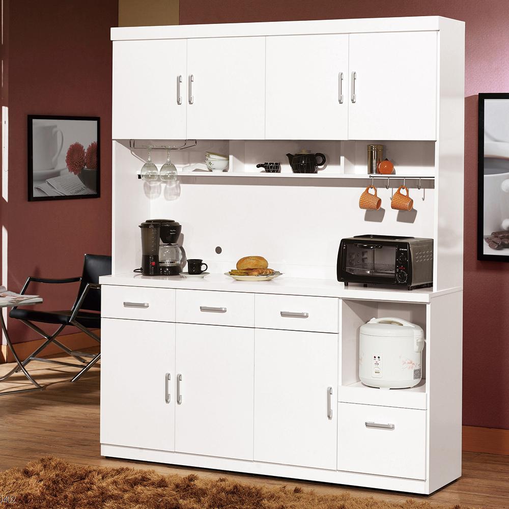 H&D 白色5.3尺餐櫃組