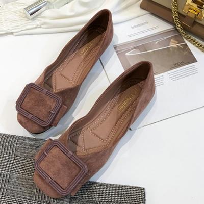 KEITH-WILL時尚鞋館-經典休閒紓壓亮眼方扣淑女鞋-粉色