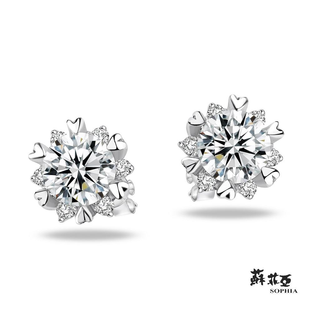SOPHIA 蘇菲亞珠寶 - 費洛拉 18K白K金 鑽石耳環
