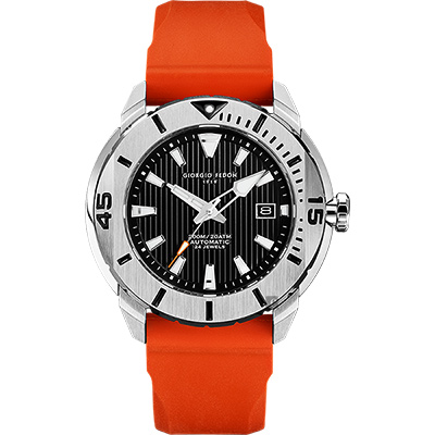 GIORGIO FEDON 1919 海洋系列200米機械錶-黑x橘/47mm