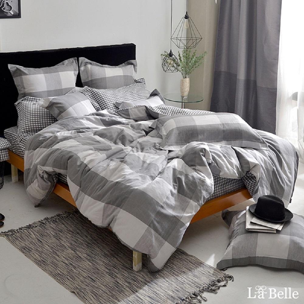 義大利La Belle 品味生活 加大水洗棉防蹣抗菌吸濕排汗兩用被床包組