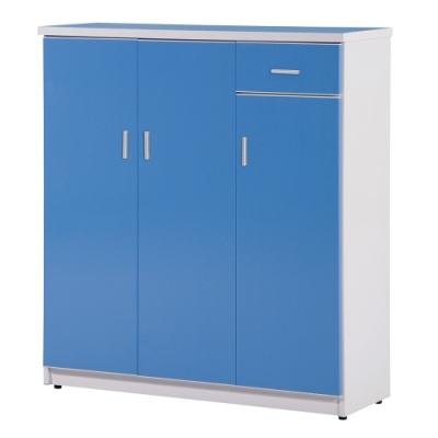 顛覆設計 防水塑鋼3.2尺單抽三門鞋櫃(七色可選)-65x33x106cm