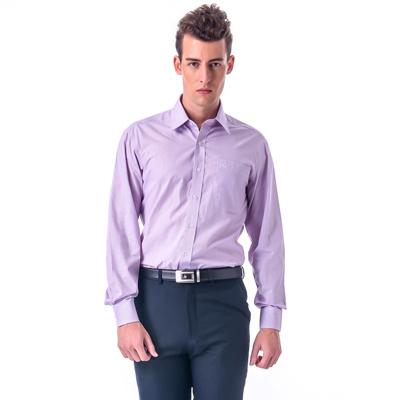 金‧安德森 紅x藍細格紋窄版長袖襯衫