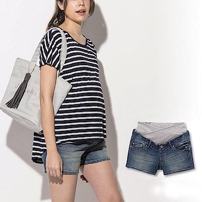 日本雜誌款-牛仔孕婦短褲
