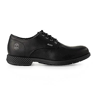 Timberland 男款黑色全粒面皮革休閒鞋 | A1SN9015