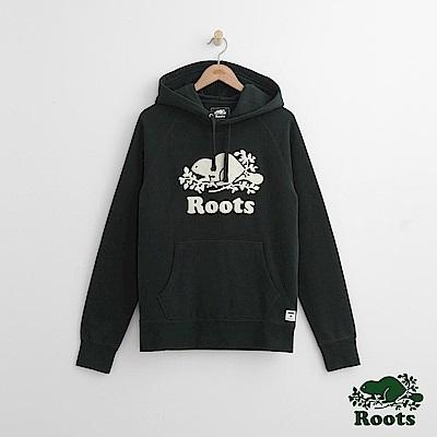 Roots 男裝- 雪妮爾庫柏海狸連帽上衣-綠