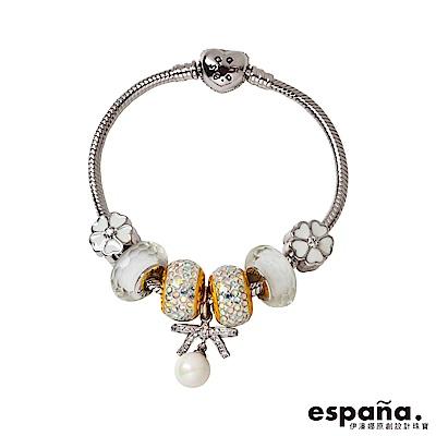 ESPANA伊潘娜 獨一無二黃金/純銀/琺瑯/琉璃串珠手鍊