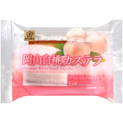 SunLavieen 岡山白桃風味蛋糕-單片(40g)