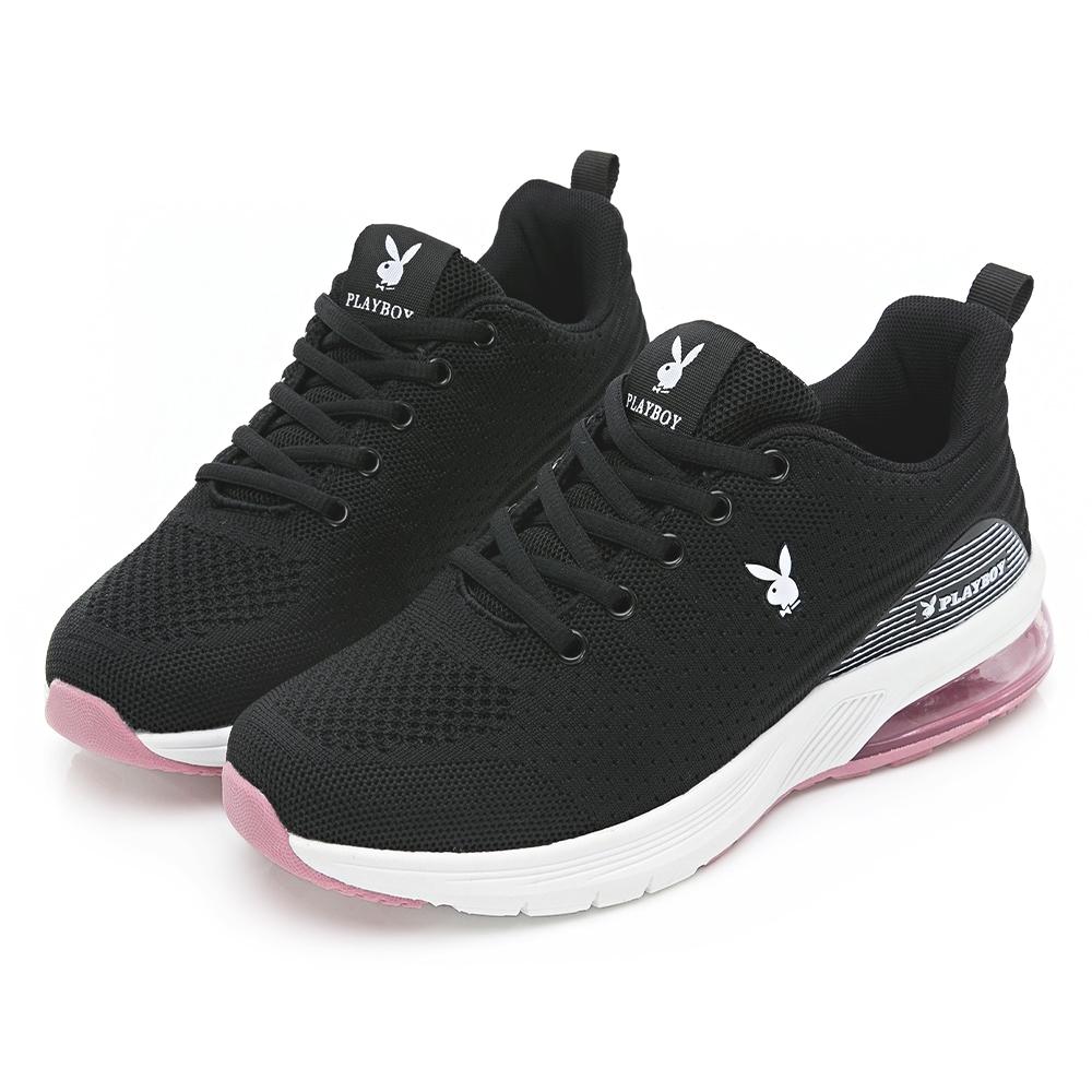 PLAYBOY 輕量氣墊休閒鞋-黑-Y6736CC