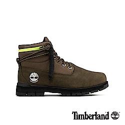 Timberland 男款軍綠色拉鍊領反摺靴 A24BM