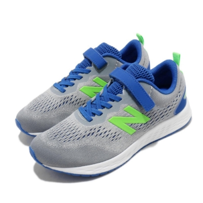 New Balance 慢跑鞋 Fresh Foam 寬楦 運動 童鞋 紐巴倫 輕量 透氣 舒適 中童 球鞋 灰 藍 YAARIIG3W