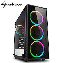 Sharkoon 旋剛 炫彩者 RGB 鋼化玻璃透側 ATX 電腦機殼