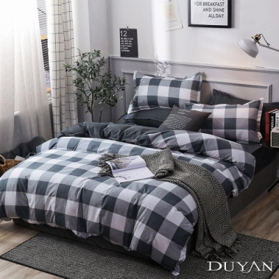 DUYAN竹漾 MIT 天絲絨-雙人加大床包兩用被套四件組-純色格調
