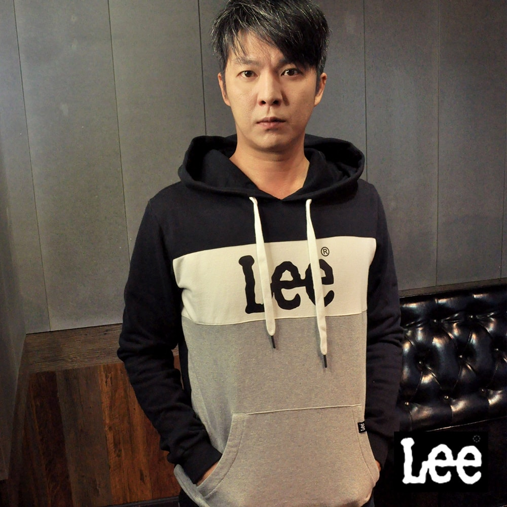 Lee 亮片LOGO長袖連帽TEE恤/RG