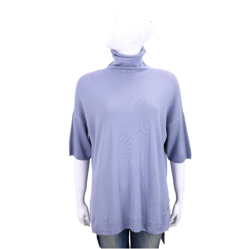 Andre Maurice 高領側開叉紫色喀什米爾羊毛衫