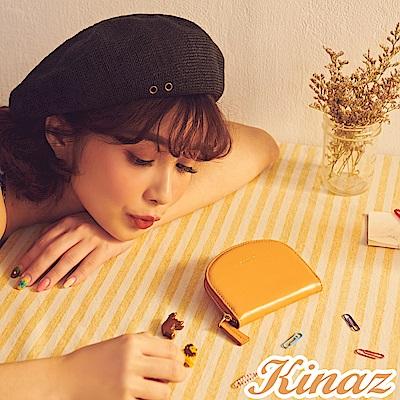 KINAZ 驚喜圓滑貼心分層零錢包- 沉穩棕力量-小物魔法系列