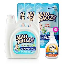 毛寶兔超天然小蘇打植物洗衣精5020g+800gx3入(贈-超酵素衣物去漬劑500g)