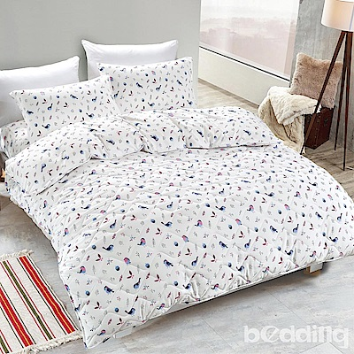 BEDDING-舒適系列海島棉6尺加大雙人薄式床包三件組-沐香