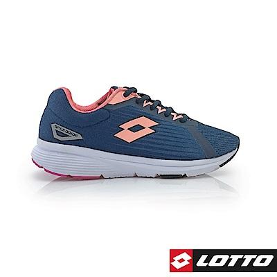 LOTTO 義大利 女 SPEEDRIDE 疾速輕量跑鞋 (深藍/粉桔)