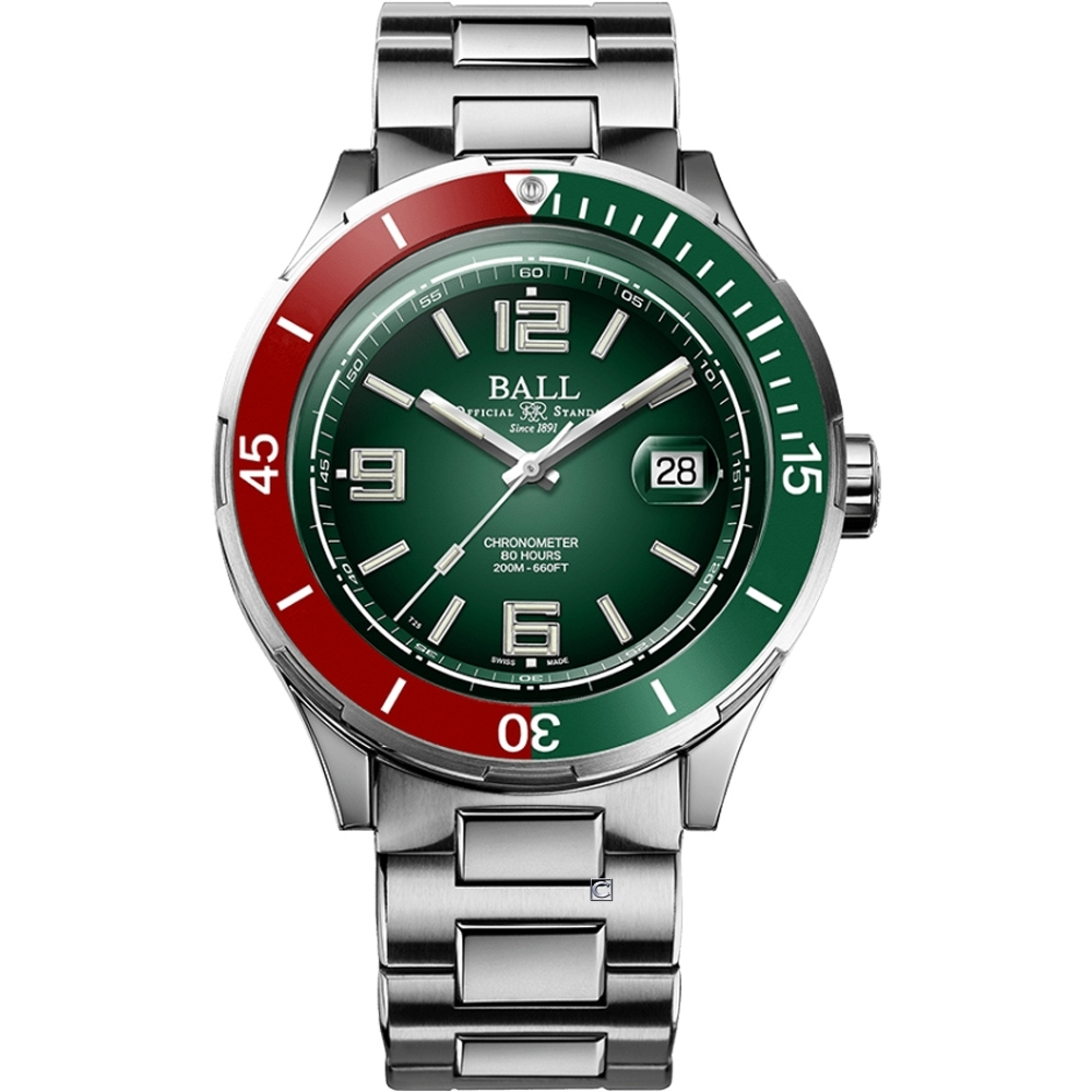 BALL 波爾錶 Roadmaster M Archangel機械腕錶 DM3130B-S7CJ-GR-40mm