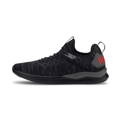 PUMA-IGNITE Flash evoKNIT 男性慢跑運動鞋-黑色