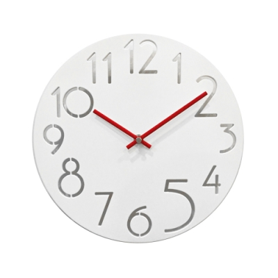 完美主義 數字曲線設計款玻璃掛鐘/時鐘/壁鐘