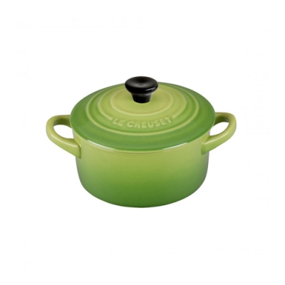 LE CREUSET 瓷器迷你圓烤盅 (棕櫚綠)