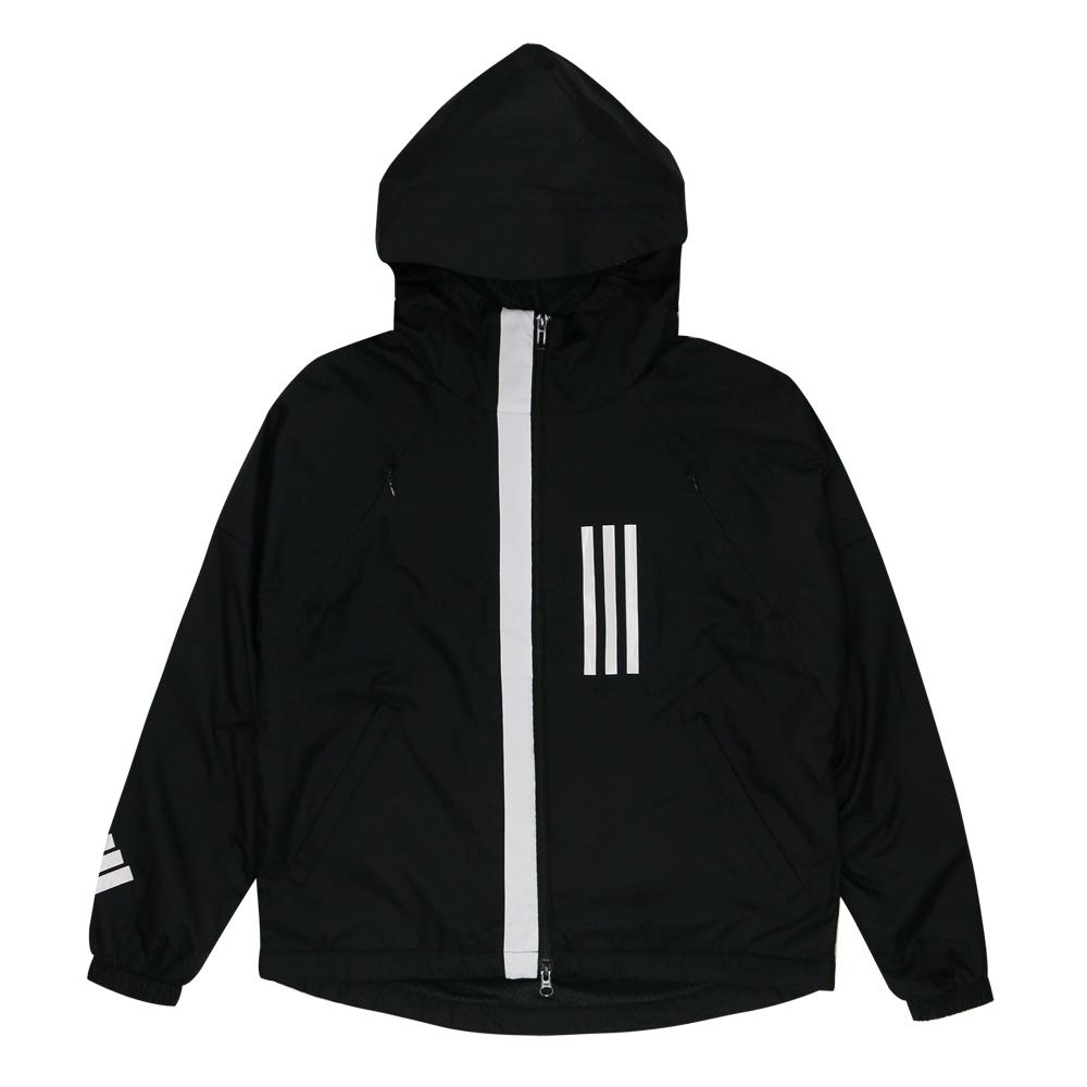 【時時樂限定】ADIDAS 女  風衣外套 (三款任選) (B.女款_黑)