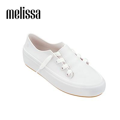 Melissa 潮流Sneaker 綁帶休閒鞋-白色