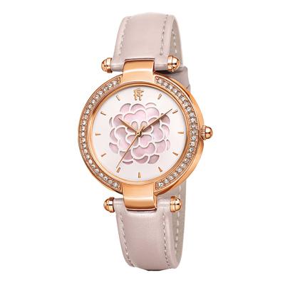 Folli Follie浪漫薔薇晶鑽腕錶-粉(WF15B037SPP-PI)