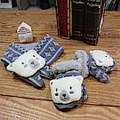 PIPPY 白白熊禦寒手套圍巾2件組 藍