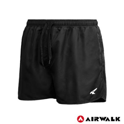 【AIRWALK】男款運動短褲-黑色
