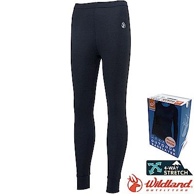 Wildland 荒野 H2673-54黑 女Highest彈性保暖褲 發熱褲