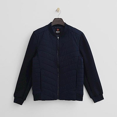 Hang Ten - 男裝 - ThermoContro-接袖拼接保暖外套 - 藍