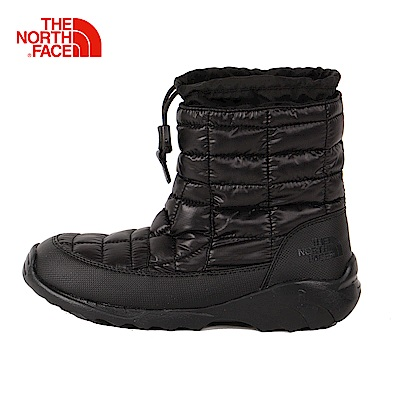 The North Face北面男款深咖啡色防潑水保暖滑雪鞋