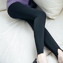 IREAL 莞美下身-長腿視覺感開岔貼腿褲