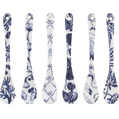《Tokyo Design》瓷製攪拌匙6件(藍墨繪)