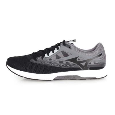 MIZUNO WAVE SONIC2 男馬拉松鞋-慢跑 路跑  黑灰