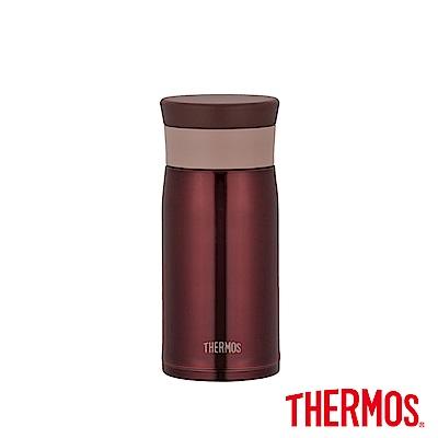 THERMOS膳魔師 不鏽鋼真空保溫杯0.35L(JMZ-350)-BW(咖啡色)