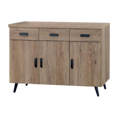Boden-約夏4尺工業風收納餐櫃/碗盤櫃/電器櫃-120x40x78cm