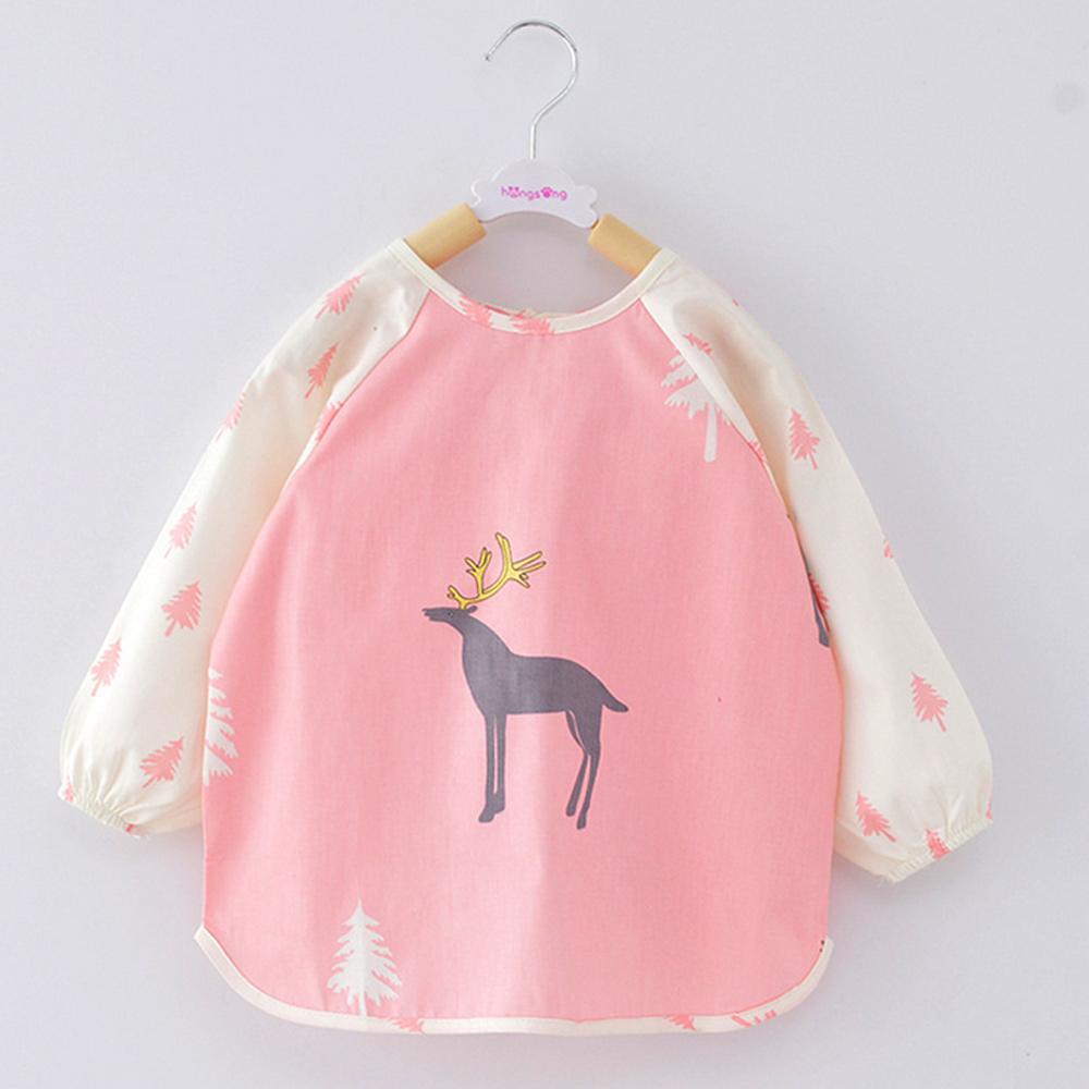 baby 寶寶吃飯罩衣 嬰兒純棉長袖圍兜 88037