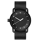 TID Watches No.1 Black-黑x經典皮製帶腕錶(TID-W100BW)40mm