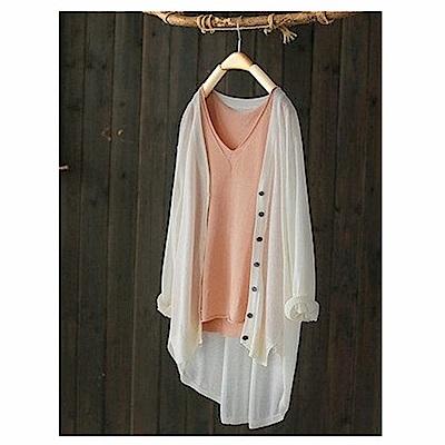 寬鬆天絲亞麻針織衫衛衣罩衫上衣-設計所在