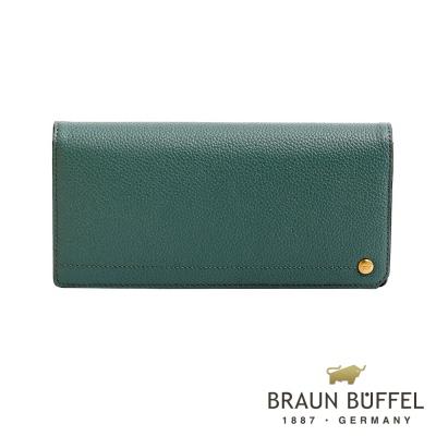 BRAUN BUFFEL - 珍妮絲系列18卡兩折長夾 - 湖水綠